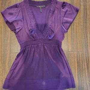 🌲 BCBG Maxazria silk purple blouse